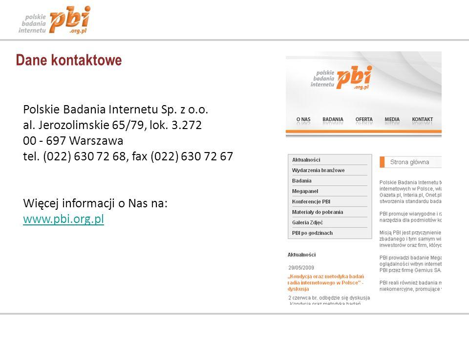 Polskie Badania Internetu Sp.z o.o. al. Jerozolimskie 65/79, lok.