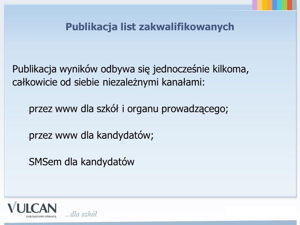 Publikacja wyników odbywa się jednocześnie kilkoma, całkowicie od siebie niezależnymi kanałami: przez www dla szkół i organu prowadzącego; przez www d