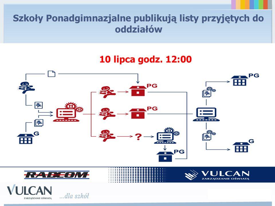 Szkoły Ponadgimnazjalne publikują listy przyjętych do oddziałów 10 lipca godz. 12:00