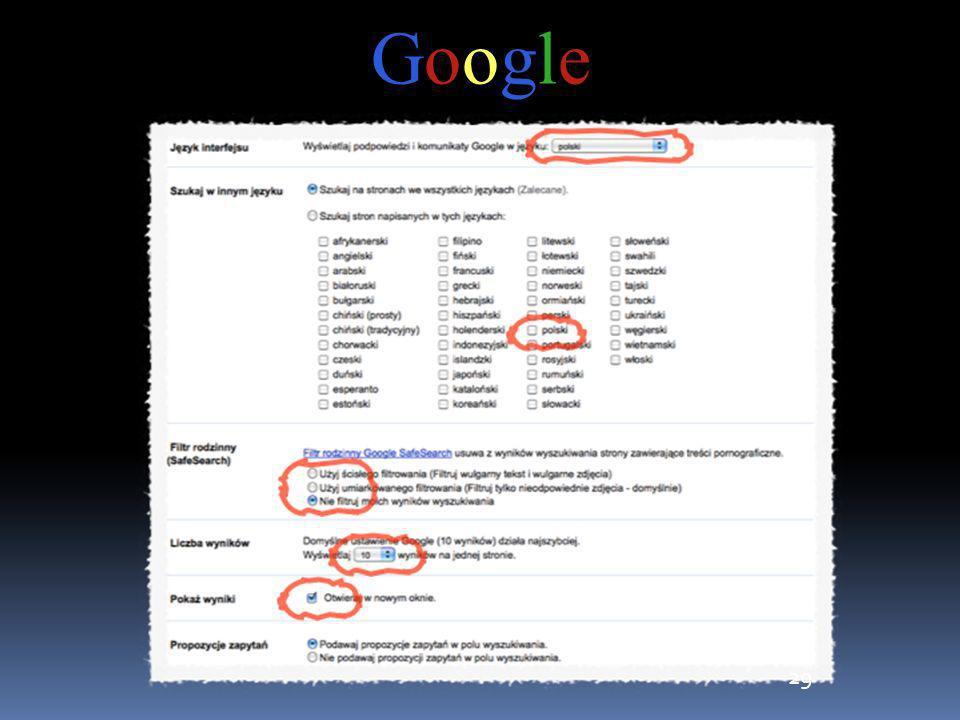 29 GoogleGoogle