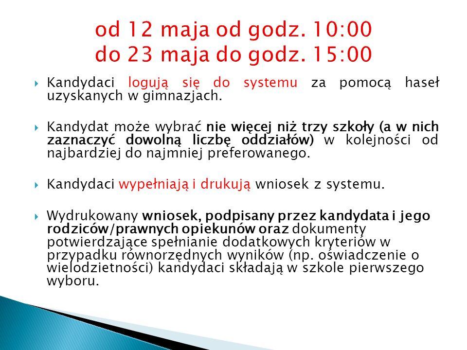 sprawdzian predyspozycji językowych dla kandydatów do oddziałów wstępnych w liceach ogólnokształcących, prowadzących takie oddziały 27 maja o godz.