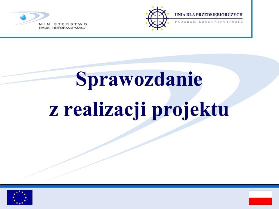Sprawozdanie z realizacji projektu
