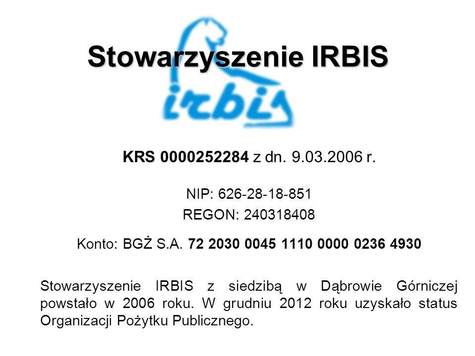Stowarzyszenie IRBIS KRS 0000252284 z dn. 9.03.2006 r.