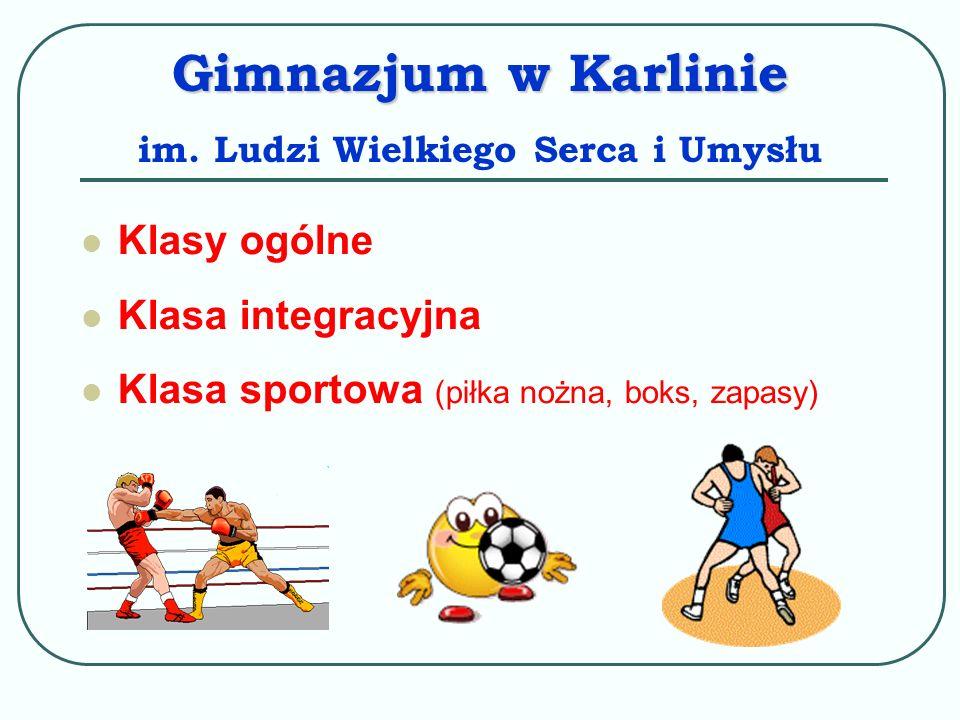 Osoby zamieszkałe w obwodzie Gimnazjum w Karlinie przyjmuje się z urzędu, Osoby zamieszkałe poza obwodem Gimnazjum w Karlinie będą przyjmowane w miarę wolnych miejsc.