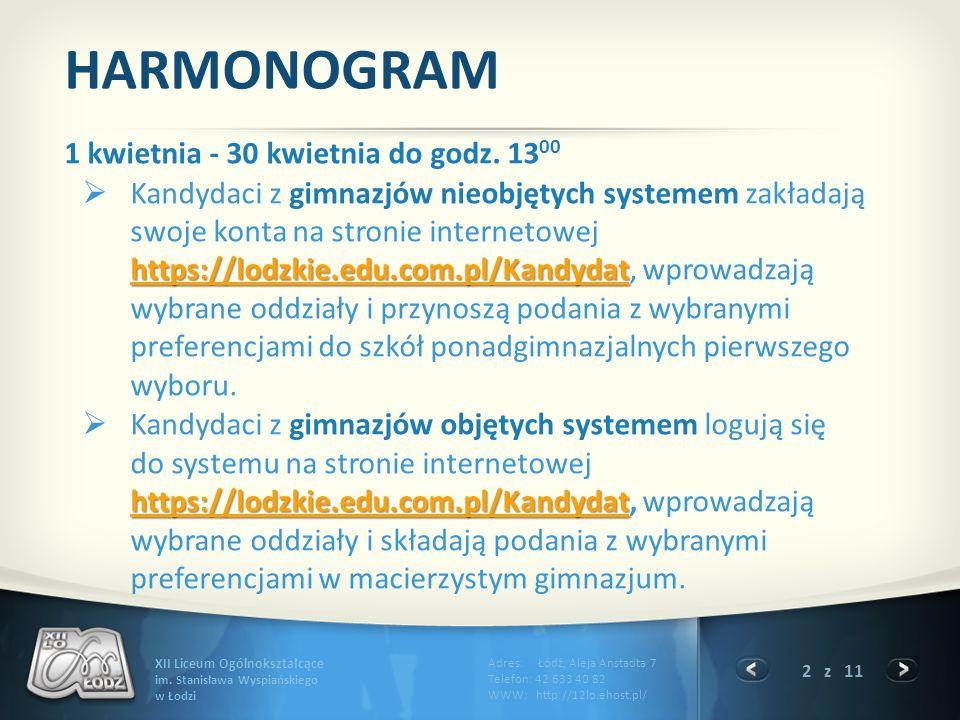 2 z 11 XII Liceum Ogólnokształcące im.