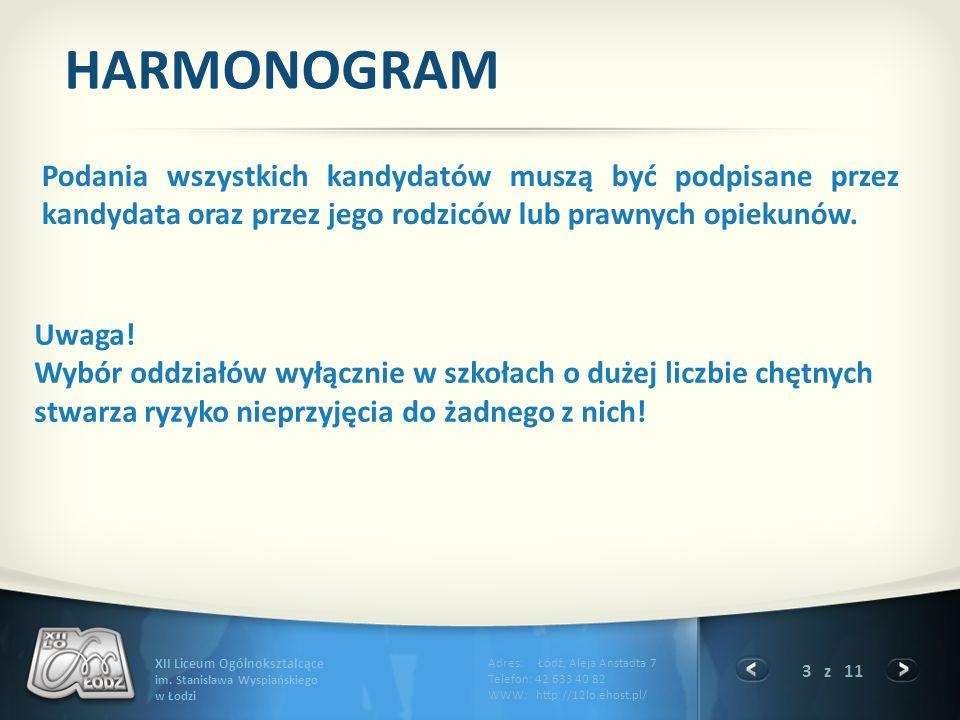 3 z 11 XII Liceum Ogólnokształcące im.