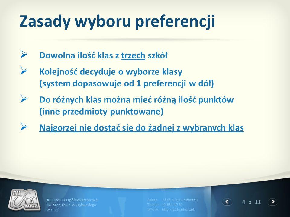 4 z 11 XII Liceum Ogólnokształcące im.