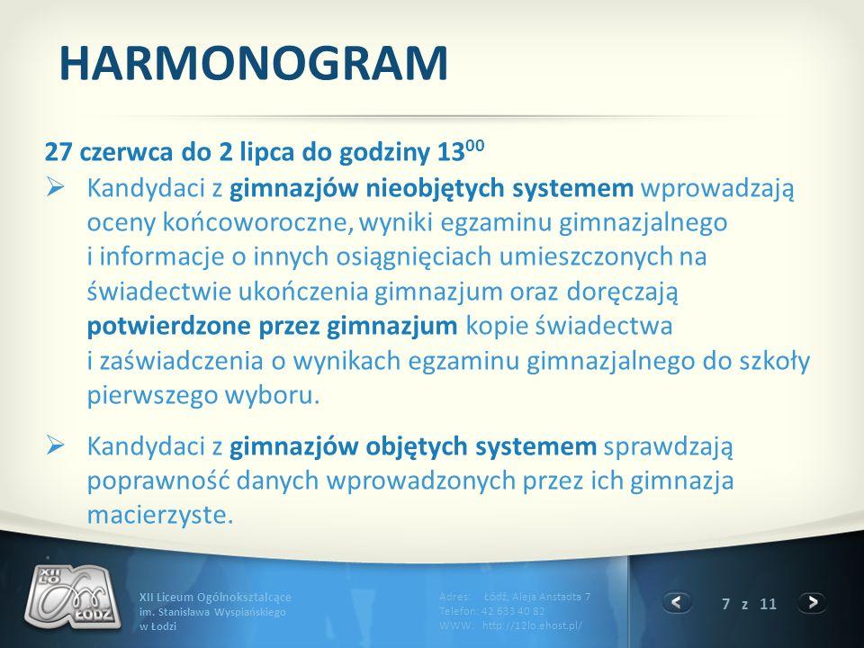 7 z 11 XII Liceum Ogólnokształcące im.