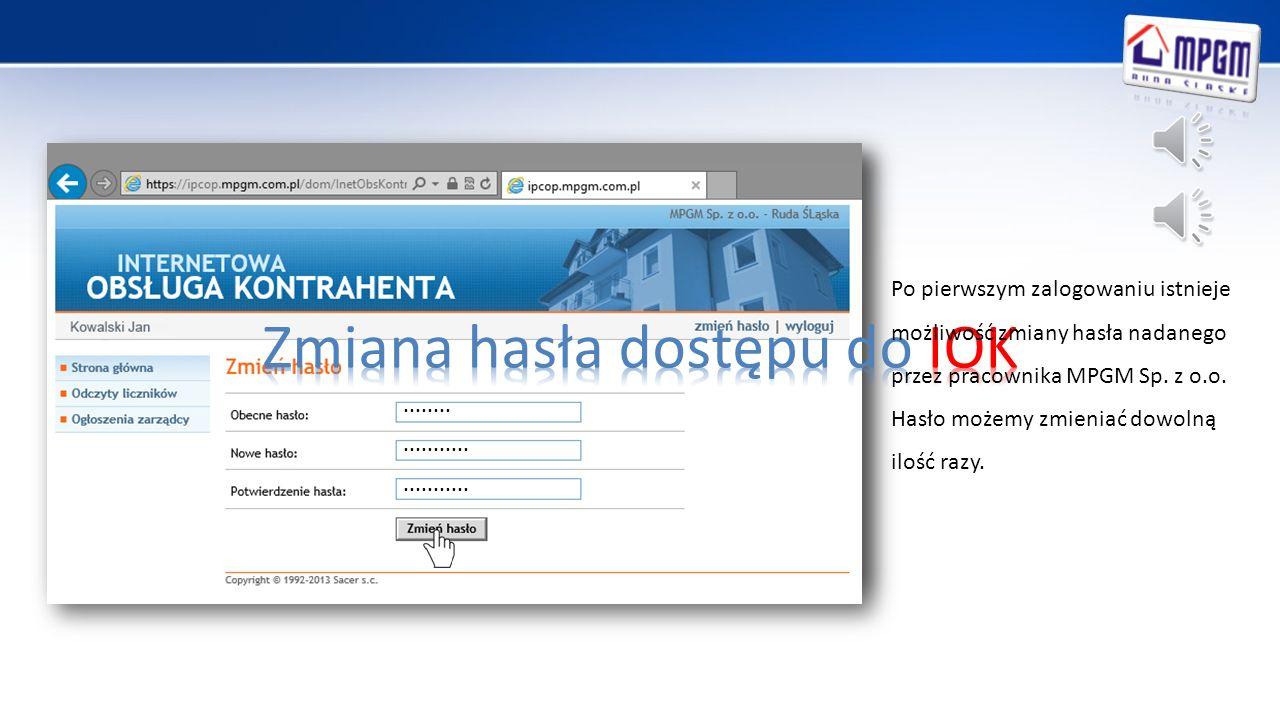 Klikając w bocznym menu na Odczyty liczników mamy możliwość sprawdzenia daty instalacji wodomierza.