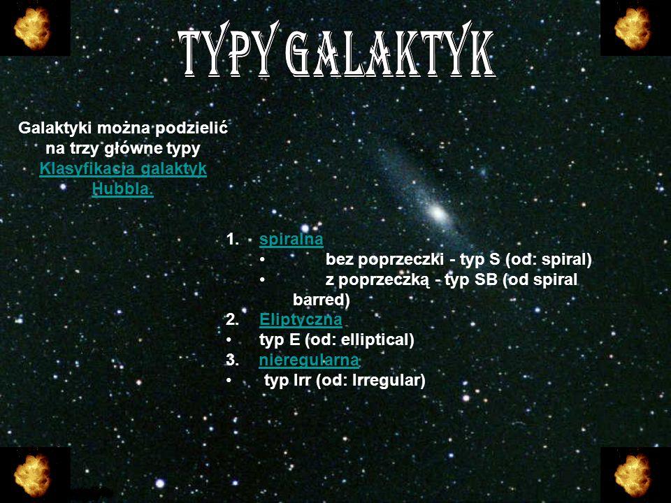 Droga Mleczna - to galaktyka spiralna z poprzeczką, w której znajduje się m.in.