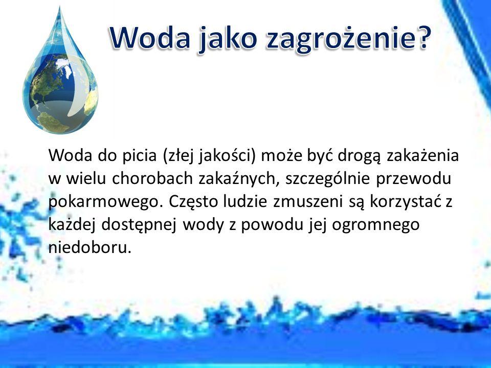 Woda, tak potrzebna do życia, może jednocześnie stanowić zagrożenie dla zdrowia, a nawet być przyczyną śmierci.