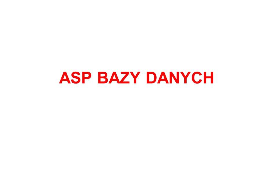 ASP BAZY DANYCH