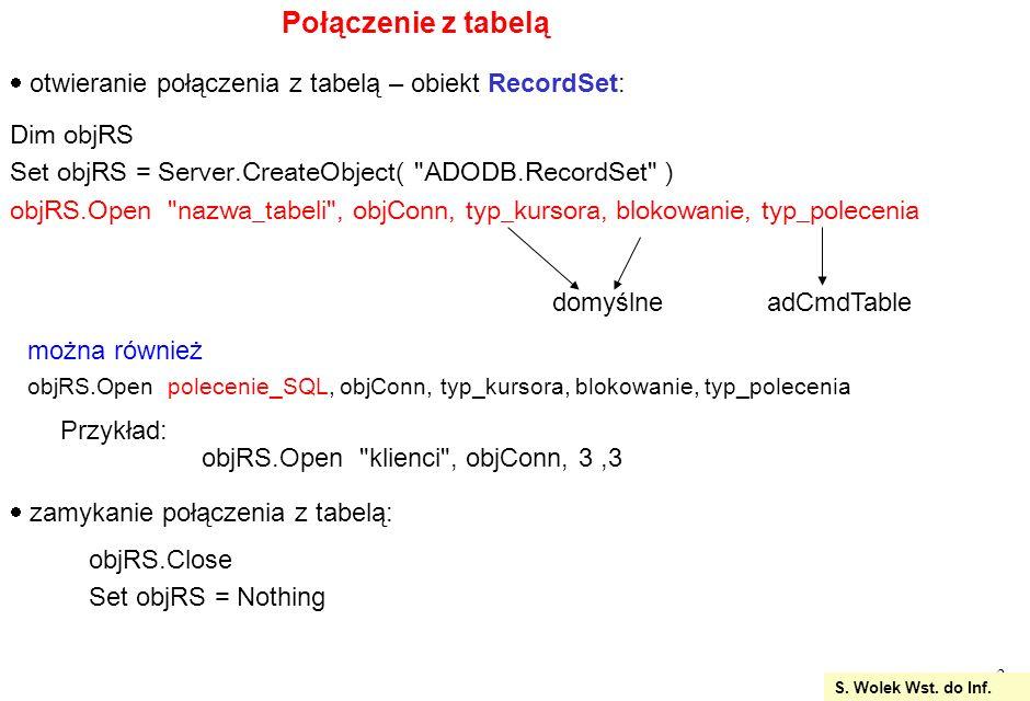 24 zamknięcie obiektów baza.Close set baza = nothing Conn.Close set Con = nothing response.write %>
