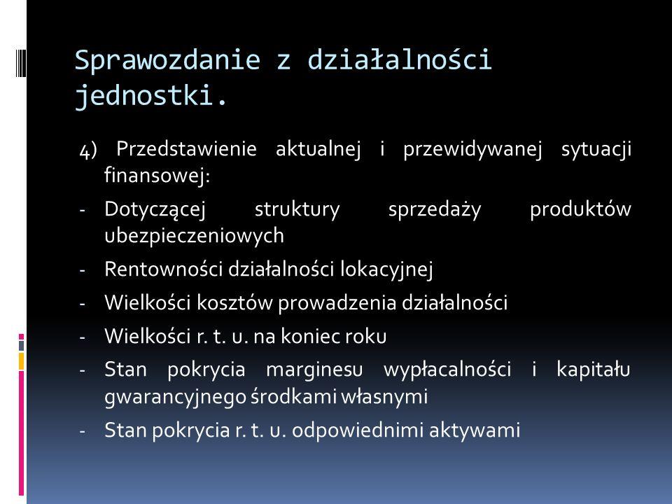 Sprawozdanie z działalności jednostki. 4) Przedstawienie aktualnej i przewidywanej sytuacji finansowej: - Dotyczącej struktury sprzedaży produktów ube
