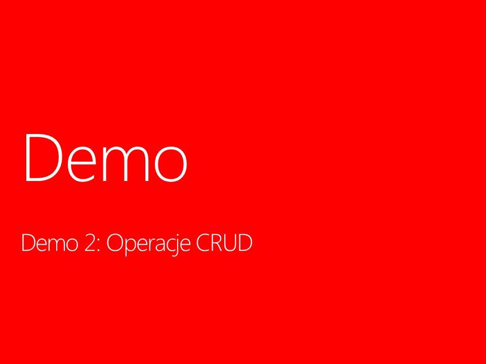Demo 2: Operacje CRUD Demo 12