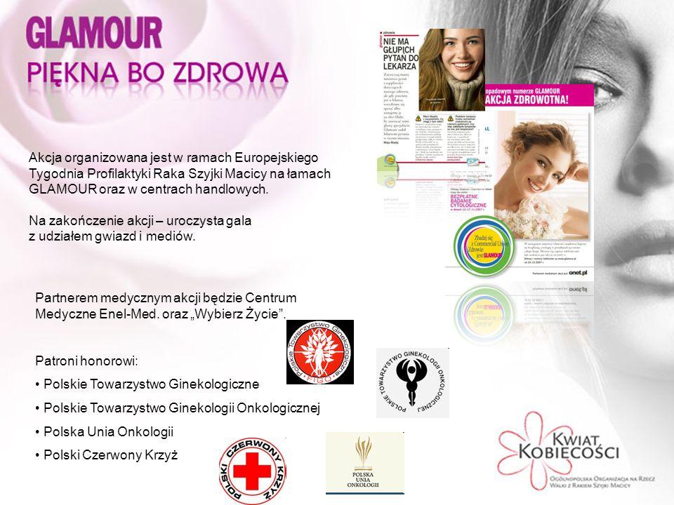 Akcja organizowana jest w ramach Europejskiego Tygodnia Profilaktyki Raka Szyjki Macicy na łamach GLAMOUR oraz w centrach handlowych.