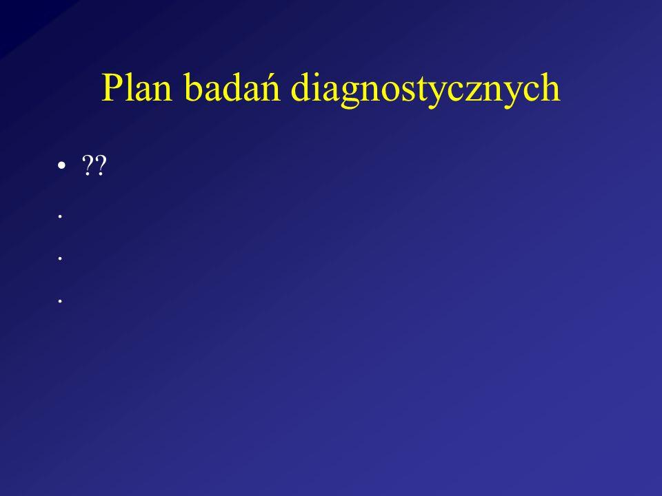 Plan badań diagnostycznych ??.