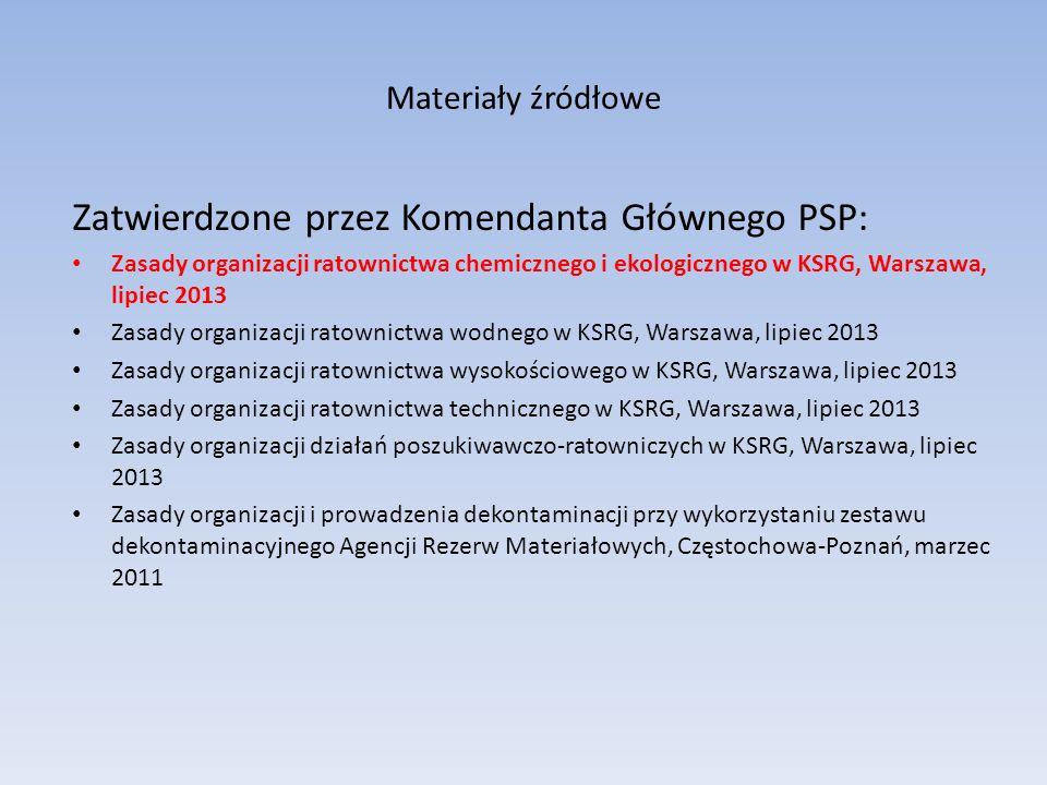 Poziomy ratownictwa specjalistycznego Poziom podstawowy Obejmuje wszystkie JRG oraz wybrane jednostki OSP z KSRG Pozom specjalistyczny Specjalistyczne grupy ratownicze PSP