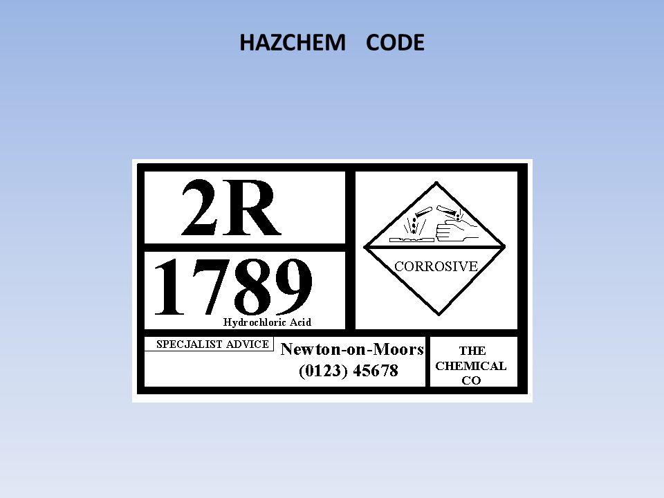 HAZCHEM CODE
