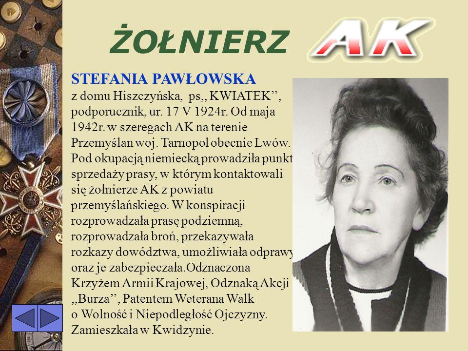 ŻOŁNIERZ IRENA HALAGIERA z domu Jurkun, ur. 27 VI 1922r. w Graużach Starych, pow.Suwałki, woj. Białystok. 5 VII 1941r. wstąpiła do Polskiego Związku P