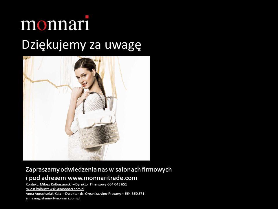 Dziękujemy za uwagę Zapraszamy odwiedzenia nas w salonach firmowych i pod adresem www.monnaritrade.com Kontakt: Miłosz Kolbuszewski – Dyrektor Finanso