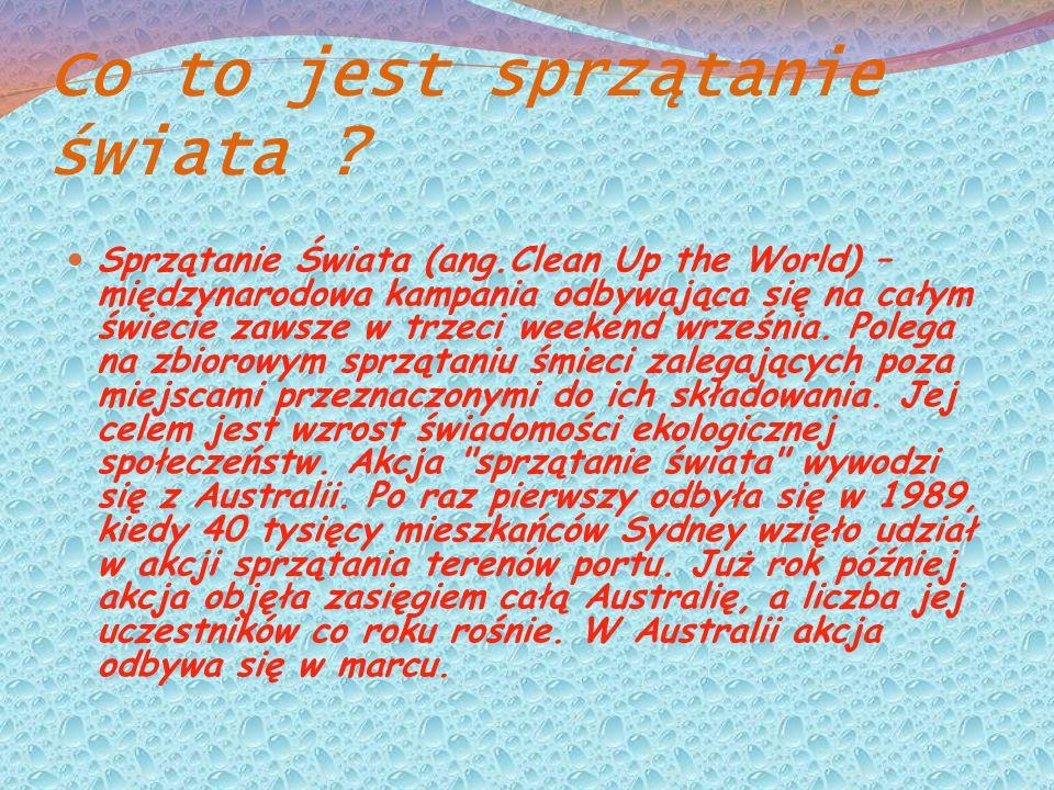 Sprzątanie Świata w Polsce .