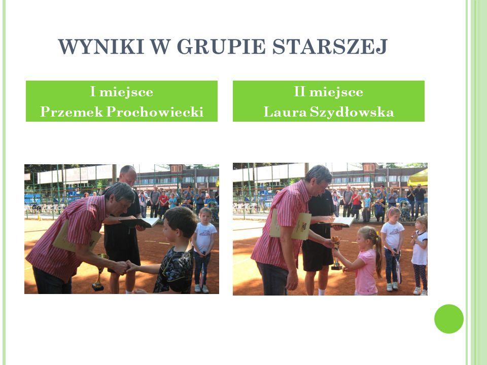 WYNIKI W GRUPIE STARSZEJ I miejsce Przemek Prochowiecki II miejsce Laura Szydłowska