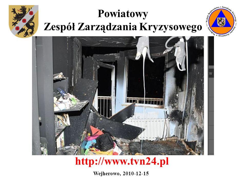 Powiatowy Zespół Zarządzania Kryzysowego Mieszkalne obiekty wysokie w Wejherowie Wejherowo, 2010-12-15
