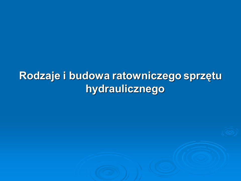 Rodzaje i budowa ratowniczego sprzętu hydraulicznego