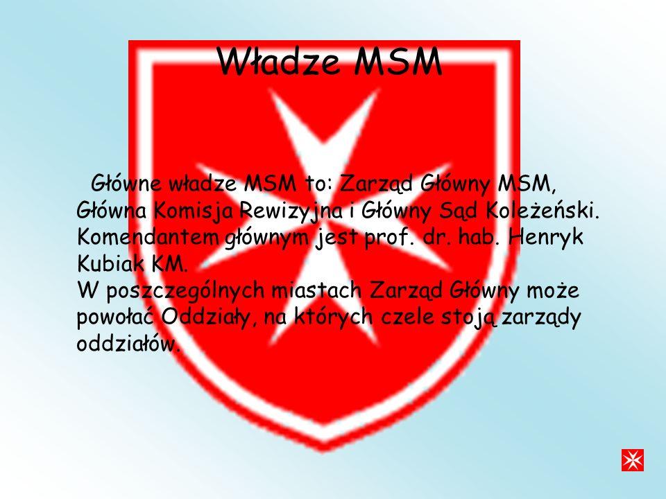 Władze MSM Główne władze MSM to: Zarząd Główny MSM, Główna Komisja Rewizyjna i Główny Sąd Koleżeński.
