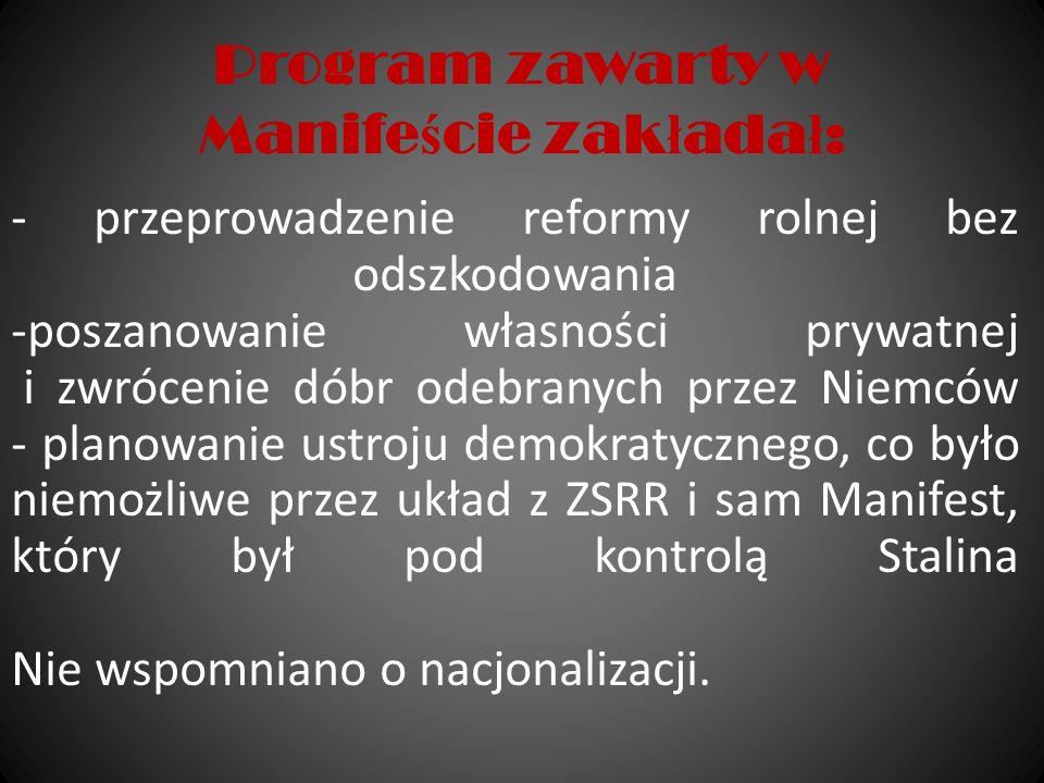 Sfa ł szowane wybory, 19 I 1947 Wypełniając postanowienia konferencji jałtańskiej, na której mocarstwa zobowiązały rząd Polski do przeprowadzenia wolnych, nieskrępowanych wyborów na zasadzie powszechnego głosowania władze Polski Ludowej zdecydowały się na rozpisanie wyborów powszechnych w 1947.