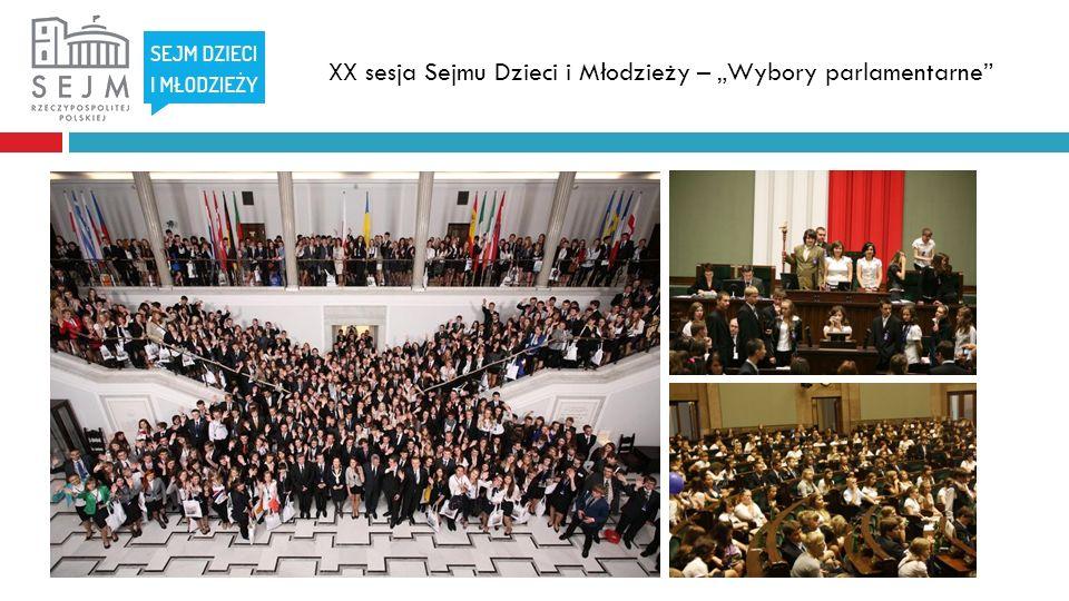 XX sesja Sejmu Dzieci i Młodzieży – Wybory parlamentarne
