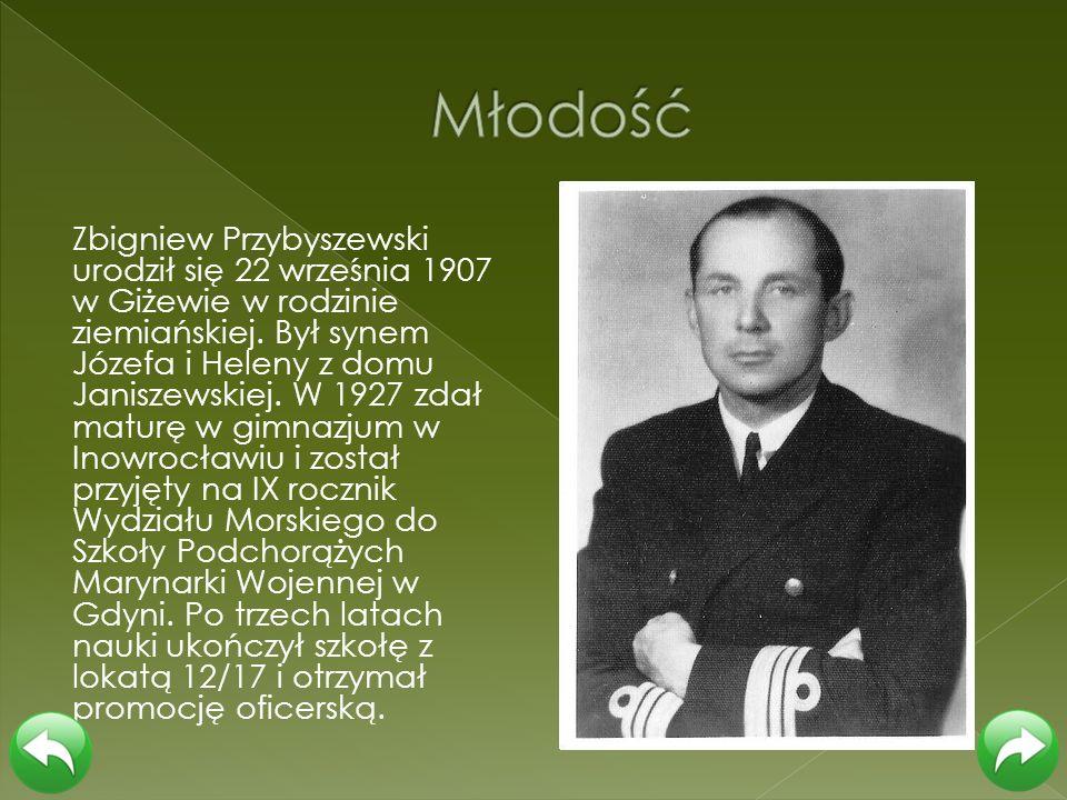 Zbigniew Przybyszewski urodził się 22 września 1907 w Giżewie w rodzinie ziemiańskiej. Był synem Józefa i Heleny z domu Janiszewskiej. W 1927 zdał mat