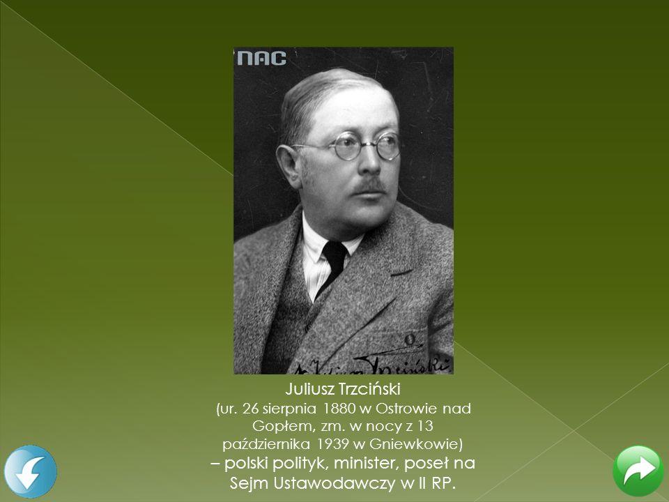 Juliusz Trzciński (ur. 26 sierpnia 1880 w Ostrowie nad Gopłem, zm. w nocy z 13 października 1939 w Gniewkowie) – polski polityk, minister, poseł na Se