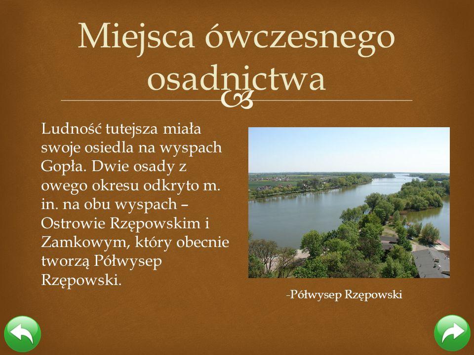 Ludność tutejsza miała swoje osiedla na wyspach Gopła. Dwie osady z owego okresu odkryto m. in. na obu wyspach – Ostrowie Rzępowskim i Zamkowym, który