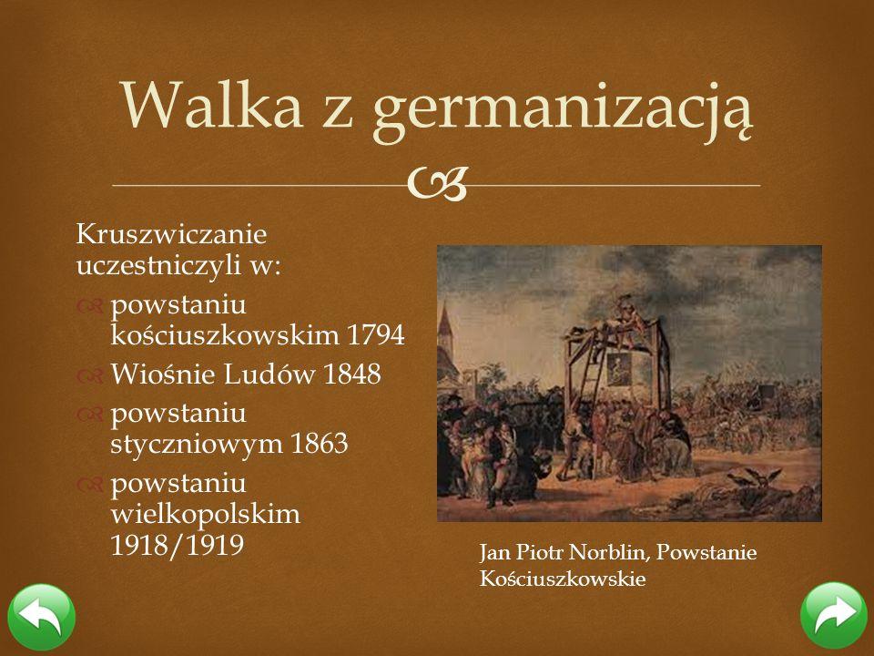 Kruszwiczanie uczestniczyli w: powstaniu kościuszkowskim 1794 Wiośnie Ludów 1848 powstaniu styczniowym 1863 powstaniu wielkopolskim 1918/1919 Walka z