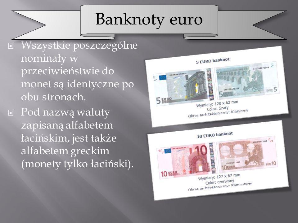 Wszystkie poszczególne nominały w przeciwieństwie do monet są identyczne po obu stronach. Pod nazwą waluty zapisaną alfabetem łacińskim, jest także al