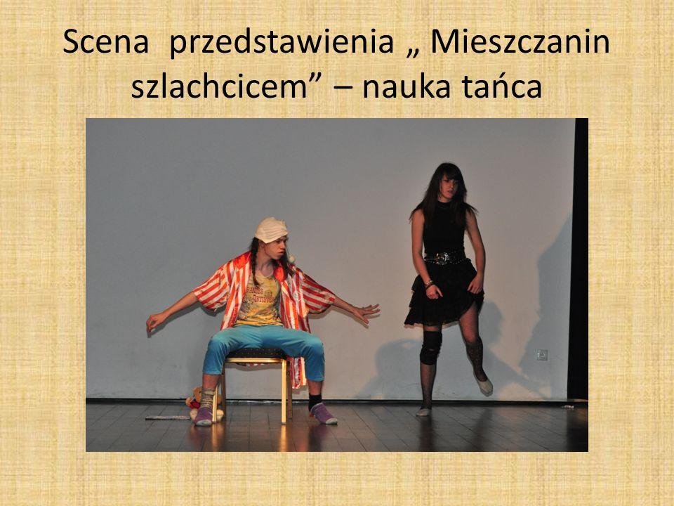 Scena przedstawienia Mieszczanin szlachcicem – nauka tańca