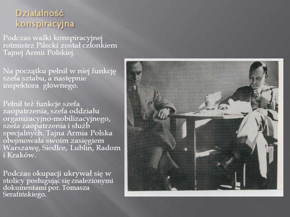 Kampania wrze ś niowa We wrześniu 1939 r. Witold Pilecki został ponownie zmobilizowany. Został dowódcą plutonu w szwadronie kawalerii dywizyjnej 19 Dy
