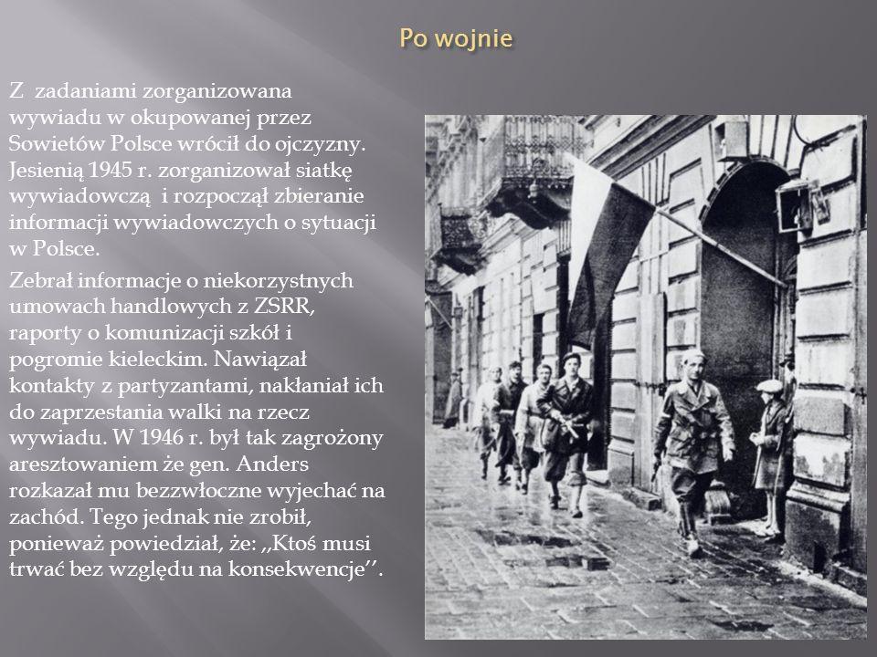 Powstanie Warszawskie Pomimo pełnienia funkcji w konspiracji wraz z towarzyszem z obozu kpt. Janem Redzejem Witold Pilecki walczył jako szeregowy żołn