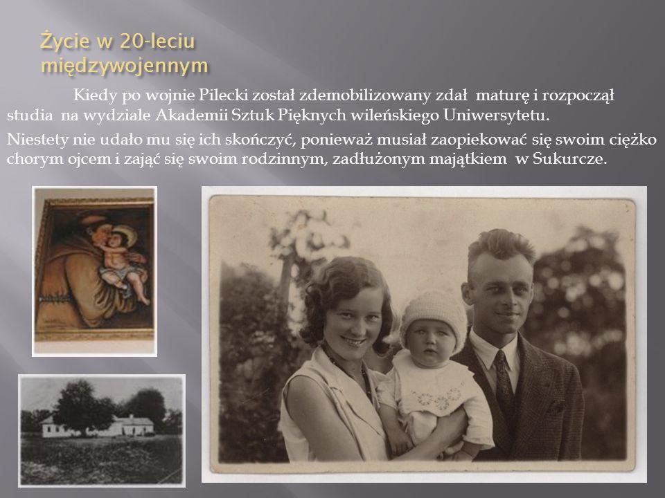 Wojna polsko-bolszewicka 1919-1921 Witold Pilecki służył Wojsku Polskim w latach 1918-1921. Wziął on udział w obronie Grodna, bitwie warszawskiej 1920
