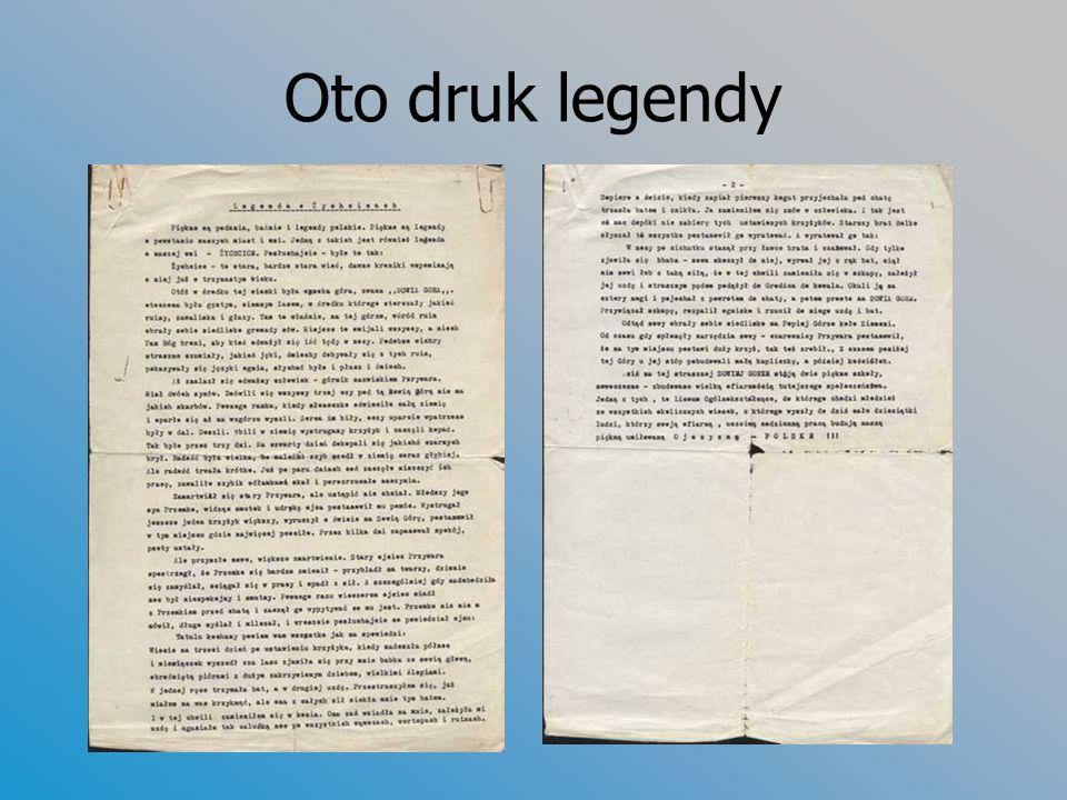 Oto druk legendy