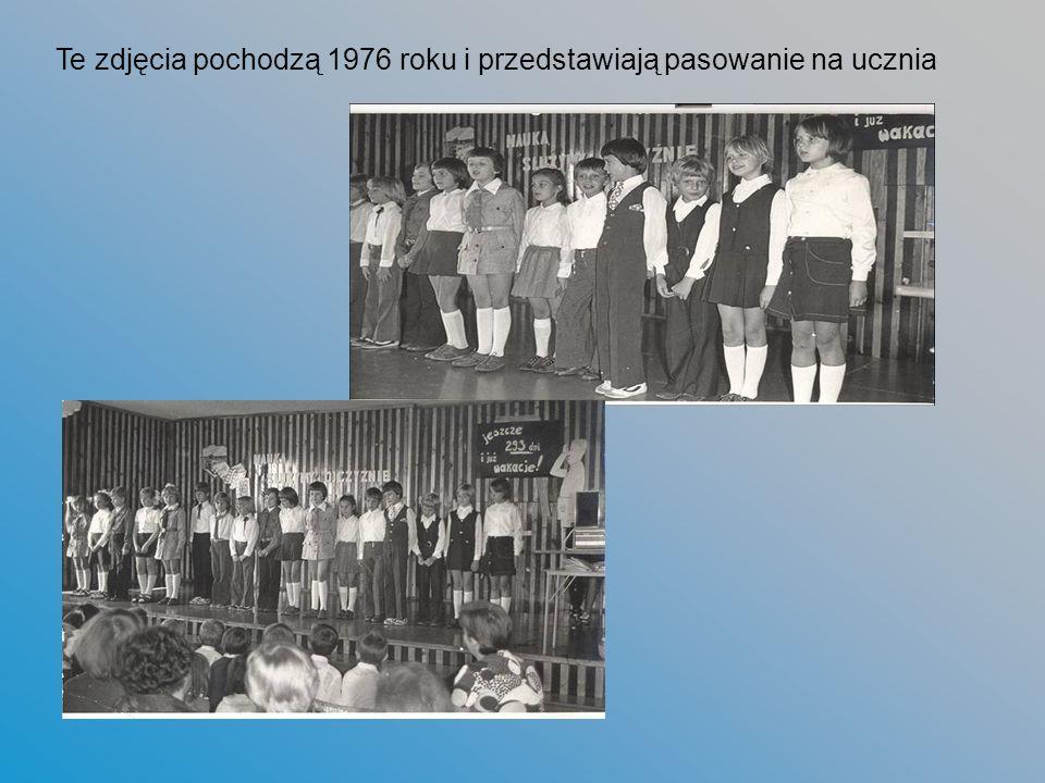 Te zdjęcia pochodzą 1976 roku i przedstawiają pasowanie na ucznia