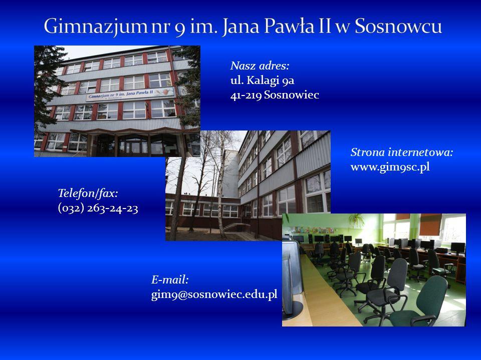 Gimnazjum nr 9 im.Jana Pawła II powstało 1 września 1999 na miejsce Szkoły Podstawowej nr 2.