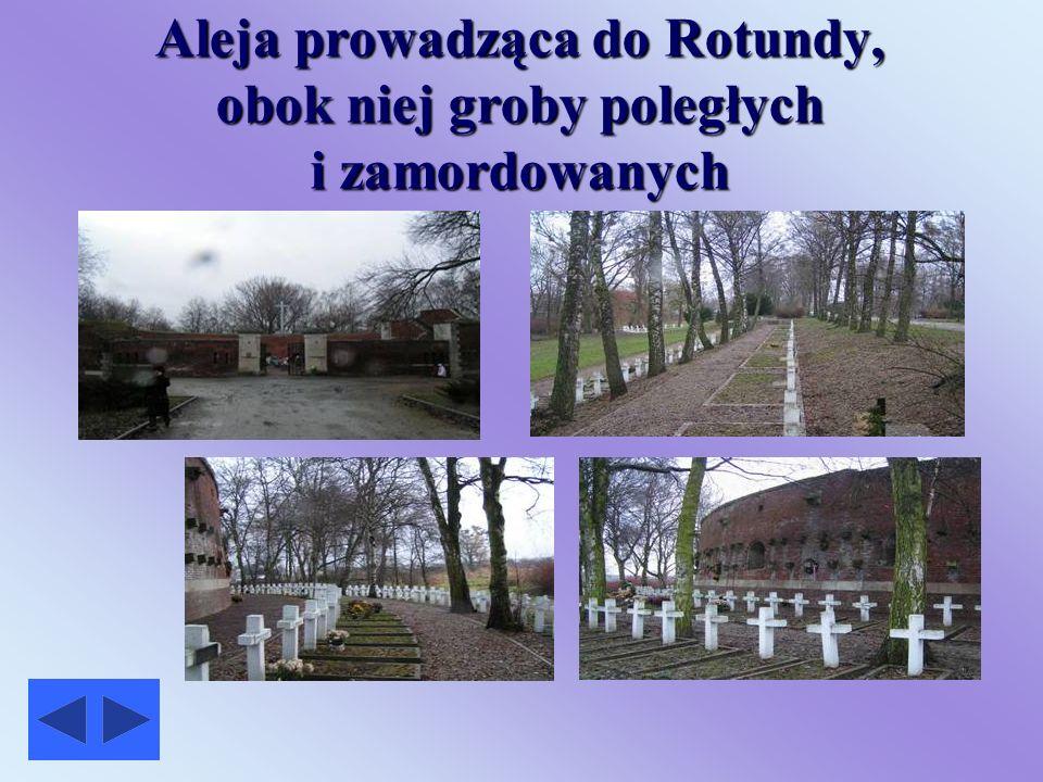 Obóz przejściowy- Rotunda w Zamościu Rotunda wybudowana w latach 1825 - 1831, miała służyć za działobitnię forteczną. W 1940 roku hitlerowcy urządzili