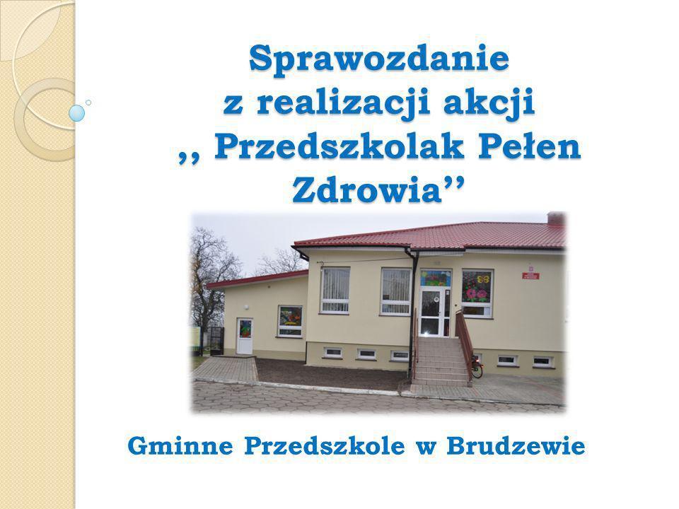 Sprawozdanie z realizacji akcji,, Przedszkolak Pełen Zdrowia Gminne Przedszkole w Brudzewie