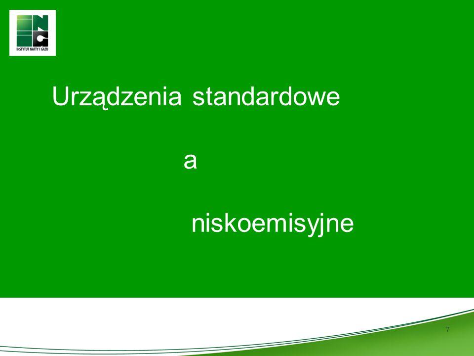 7 Urządzenia standardowe a niskoemisyjne