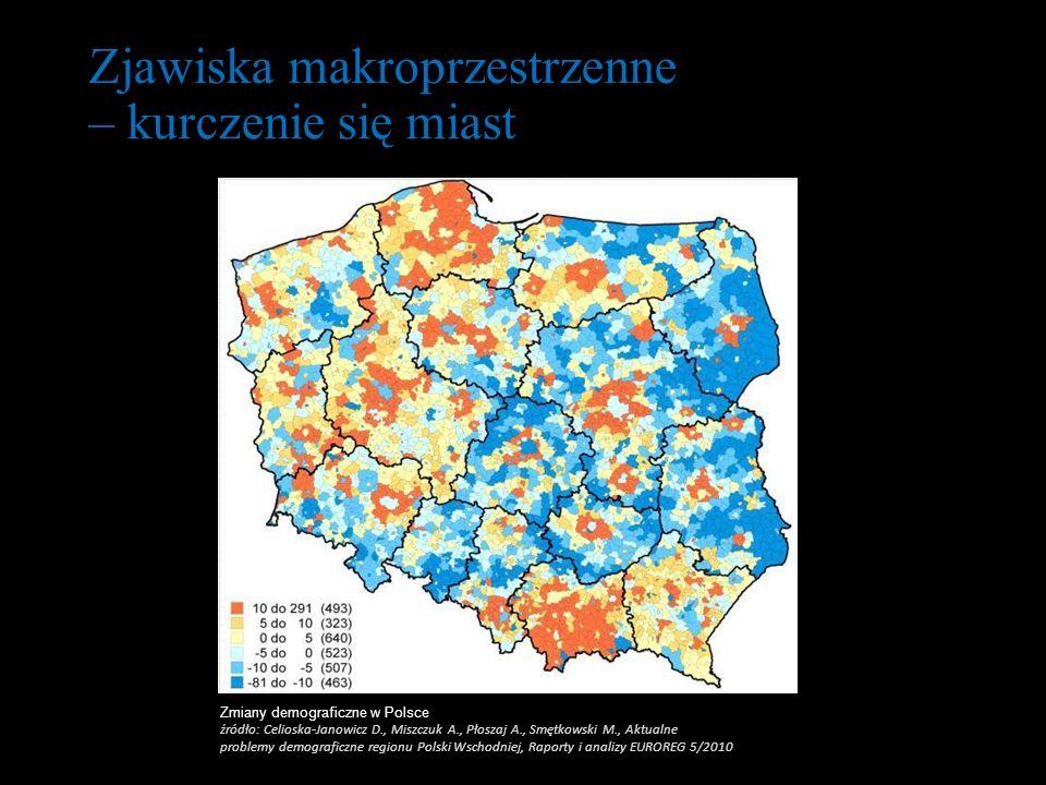 Zmiany demograficzne w Polsce źródło: Celioska-Janowicz D., Miszczuk A., Płoszaj A., Smętkowski M., Aktualne problemy demograficzne regionu Polski Wsc