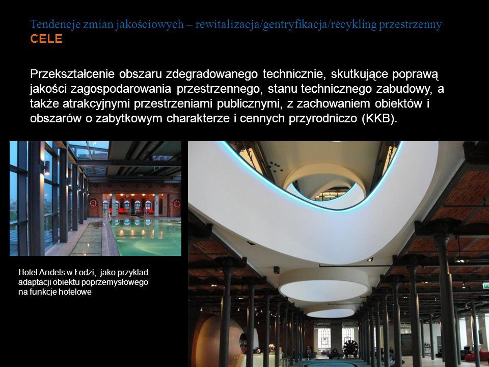 Tendencje zmian jakościowych – rewitalizacja/gentryfikacja/recykling przestrzenny CELE Hotel Andels w Łodzi, jako przykład adaptacji obiektu poprzemys