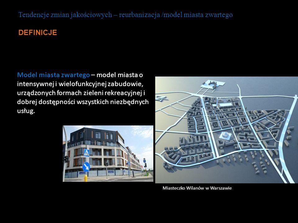 Model miasta zwartego – model miasta o intensywnej i wielofunkcyjnej zabudowie, urządzonych formach zieleni rekreacyjnej i dobrej dostępności wszystki